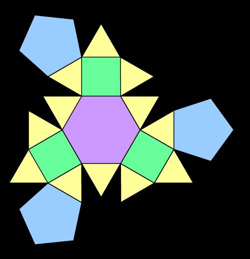 三到六边形都有的多面体